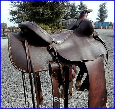 Fallis Saddlery Balanced Ride 16 in. Horse Saddle Cutting Trail Pleasure Roping