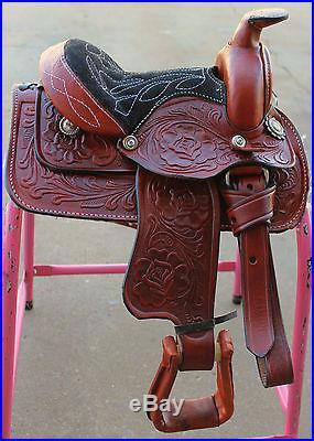 Free Cinch-8 Child Saddle Western Mini Pony Saddle Pleasure Kid Saddle
