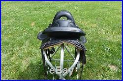 Freedom Gaited Horse Trail Saddle. 16W Black