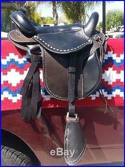 Gaited Saddle by CTK 16.5 Black Leather NICE
