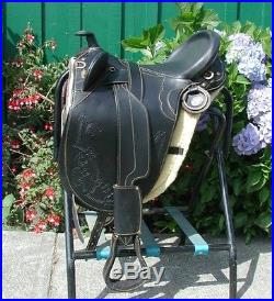 Genuine Draft Horse 17 Australian saddle BLACK