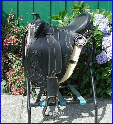 Genuine Draft Horse 20 Australian saddle BLACK
