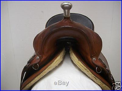 Genuine Ortho-Flex Western Horse Trail Riding Saddle Used 15 #BBB150
