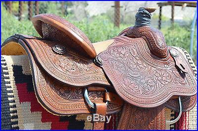 Gorgeous Full Tooled Cactus Rope Saddle