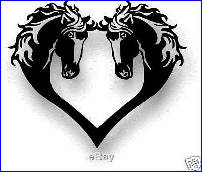 HORSE HEART SILHOUETTE WESTERN METAL ART 12X12