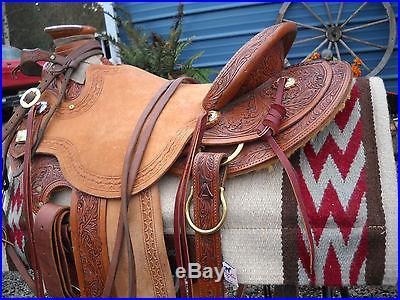 HORSE WESTERN SADDLE WIDE TREE CIRCLE Y JOHN WAYNE