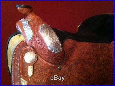 Handmade Custom TexTan Western Show Saddle