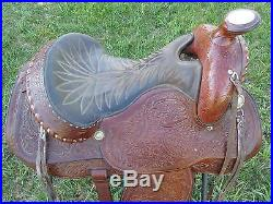 Hereford Tex Tan Brand 16 inch Western Trail Saddle, Good Condition