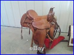 Herford 16 seat roping saddle