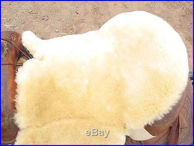 JMS Sheepskin Deluxe Western Trail Endurance Riding Saddle Seat Cushion USA made