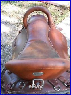 Kuda Flex trail Saddle 16.5 endurance all leather
