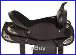 Light Weight 14 16 17 18 Black Trail Horse Western Pleasure Saddle Tack Pad