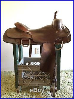 Lone Star 16 1/2 Horse Size Cutting western saddle good condition