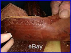 Martin Crown C Barrel Saddle 14.5 inch tree, 9 inch gullet 13.5 to padding