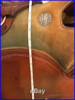Martin Reiner, western reining saddle, 16 seat