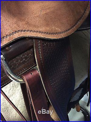 Martin saddle 16 Ranch Chocolate Brown w/elk skin seat working cowhorse