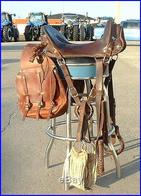 McClellan Saddle And Saddle Bags