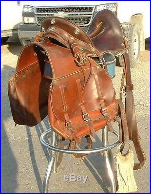 McClellan Saddle And Saddle Bags | Western Saddles