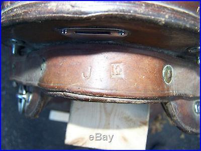 McClelland saddle 1904 US 12 inch J. E. Marked Hotze J. B. S