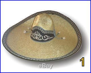 Mexican Charro Hats Saddle Sombrero Charro en Paja de Trigo