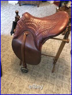 Minihan Kentucky Stitch Down Spring Seat Plantation saddle FULLY RESTORED