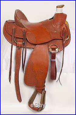 New 16 Billy Cook Chestnut Tooled Leather Western Roper