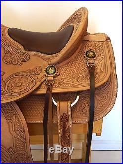 NEW 16 Beautiful Natural Leather Wade Western Saddle