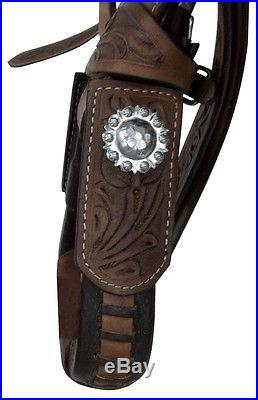 NEW BIG HORN 17 LEATHER WESTERN SADDLE WADE ROPING PLEASURE RANCH SADDLE