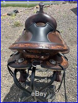 NEW Circle Y Flex2 Delta 16 Light Weight Trail Saddle