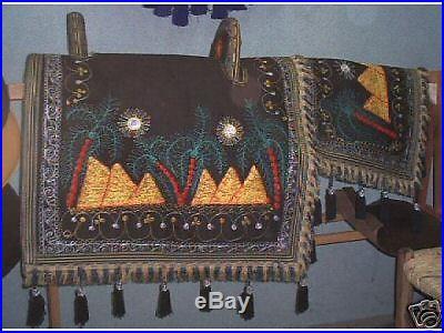 NEW EGYPTIAN Native Arabian Bedouin 2-piece Show Saddle