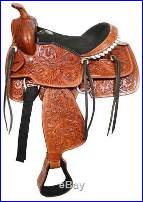 NEW YOUTH CHILDRENS / CHILDS WESTERN HORSE SADDLE 13