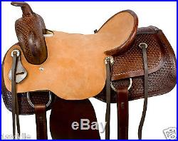 NR 16 17 LEATHER RANCH WORK ROPING ROPER COWBOY WESTERN HORSE SADDLE TRAIL TACK
