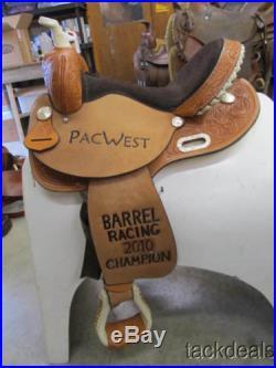 New Circle Y 15 Barrel Saddle Never Used Flex Tree