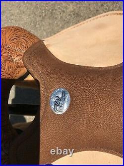 New Custom Circle Y Kelly Kaminski Swift Barrel Saddle 14.5 Matching Flank Cinch