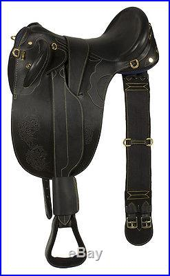New Gorgeous 18 19 20 Black Brown Oil Leather Australian Aussie Saddle Package