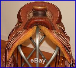 New Jay's Custom 16 Lady Wade Ranch Saddle Dark Hermann Oak & Bison FQH Bars