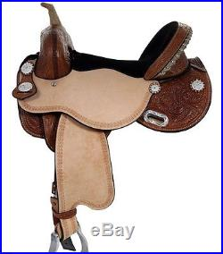 New Western Treeless Premium Eco Leather Saddle Equestrian Western tack