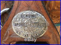 Original Bob Marshall Treeless Barrel Racing Saddle