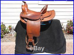 Original Signed Edward H. Bohlin Western Roping or Cutting Saddle Very Nice