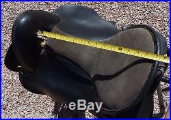 Paso Fino Gaited Black Leather Saddle 16