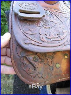 Price Mclaughlin Saginaw Texas Special Trophy Saddle 1981