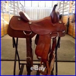 Roo Hide Western Horse Saddle. Cowhorse, Reining, Cutting, Trail, Penning. 15.5