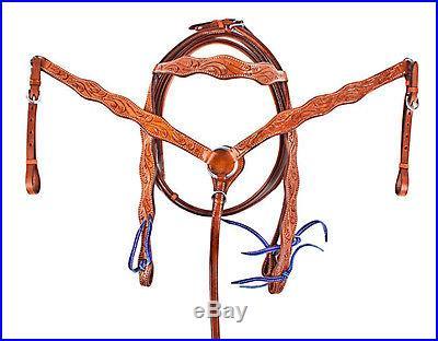 Royal Blue 15 16 17 Barrel Racing Saddle Western Horse Leather Tack Show NEW