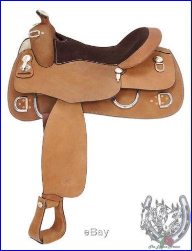 Royal King Roughout Training Saddle 15.5 Suede Seat Veri Flex Tree