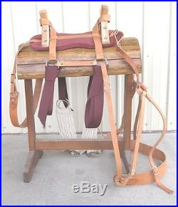 Sawbuck Pack Saddle with Nylon Latigos Double Rigging Horse or Mule Packing