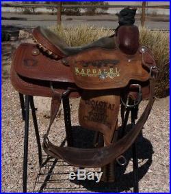 Scott Thomas Trophy Team Roping Saddle 16