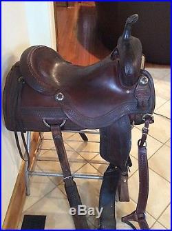Sean Ryon 17' cutting saddle dark oil