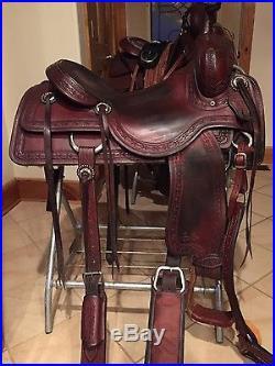 Sean Ryon cutting saddle 16-1/2
