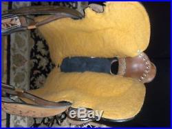Stunning 16 Custom Hand Tooled 2Tone Wade Roping Western Saddle Package