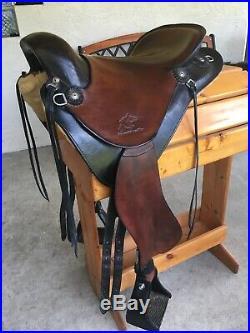 Synergist Western Two Tone Trail Endurance Saddle English billets 15 Inch